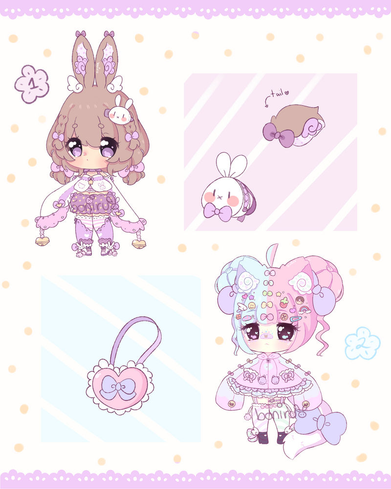 Cute pastel adopts  #2 set price (open)