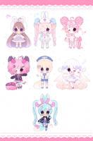 cute adopts batch 7 set price (closed) by boniru