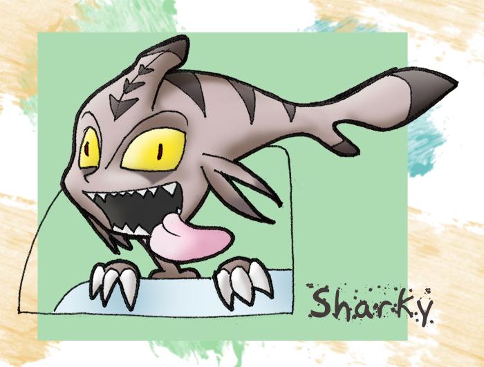 sharky crazy by Almiux19
