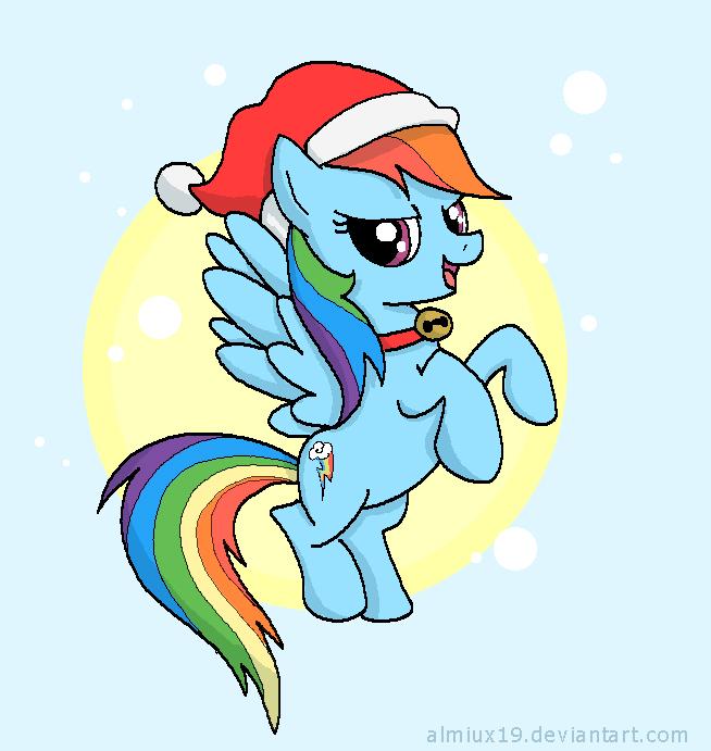 Merry Xmas rainbow dash by Almiux19 on DeviantArt