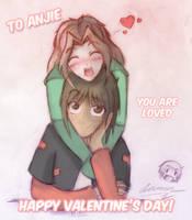 For ZombieFreak88 - Valentine by TwilitAngel