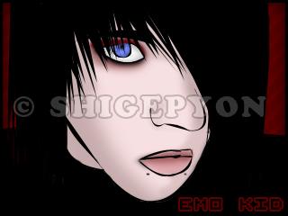 Shigeki's wall  {P.13 - Arbre-Boutons! =D} - Page 4 Emo_Kid_by_shigepyon