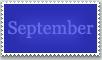 Stamp: September by emerlyrose