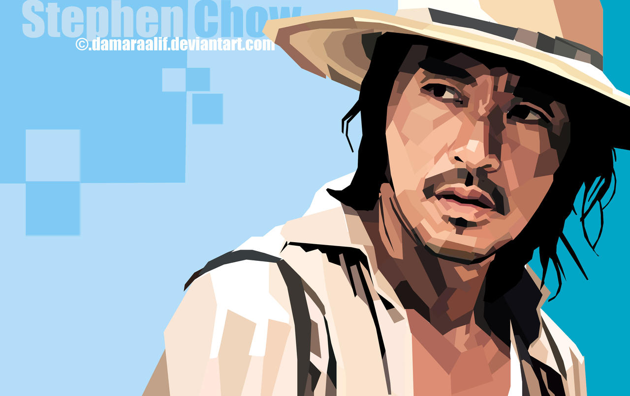 ... Stephen Chow in WPAP (skintone) by DamaraAlif - stephen_chow_in_wpap__skintone__by_damaraalif-d70gs8h