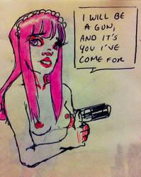 Gun by hiohii