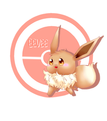 PK - little Eevee by cyndaquil1998