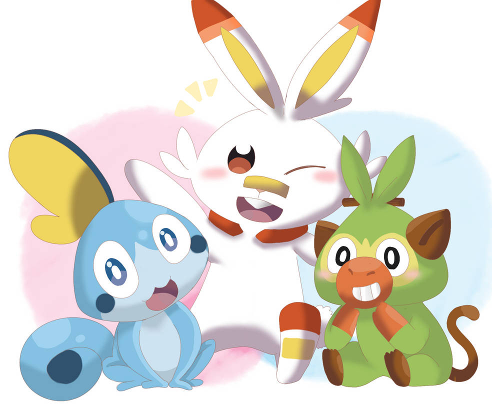 PK - Galar Starters by cyndaquil1998