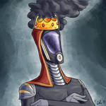 [Commission] Some Quarian With a Smoking Crown