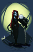 The Skellington Family by luvusagi