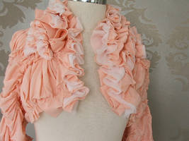 pink bolero jacket by mikomaju