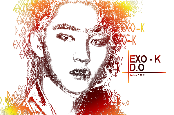 EXO-K - D.O - Typography by DjAsian on DeviantArt