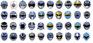 Super Sentai Blue Head Pixeled