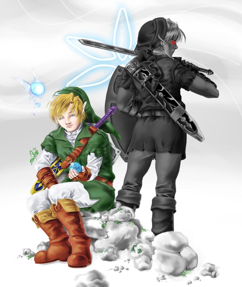 Dark Link and Link by sdmarquez