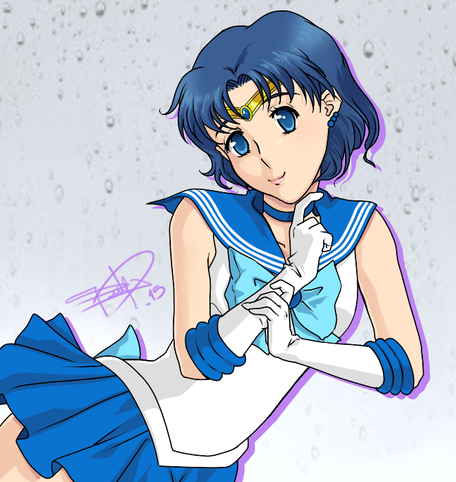 Sailor Mercury (crystal) by sdmarquez