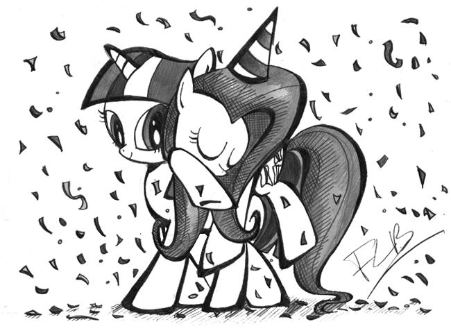 Scrap - After a party in Ponyville... by labba94
