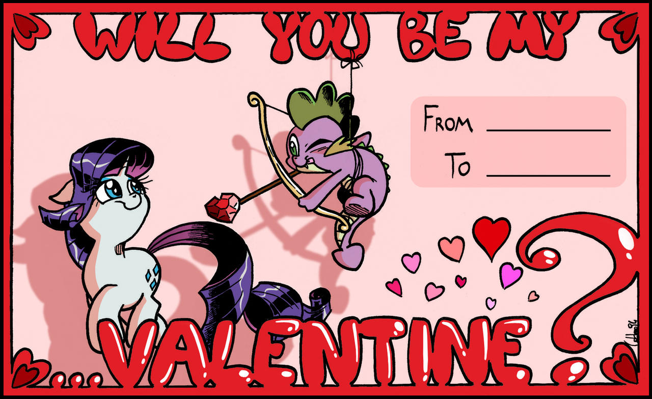 Will You Be My Valentine? [VALENTINE'S DAY CARD] by labba94