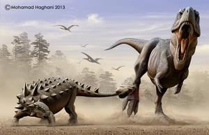 Daspletosaurus Vs Euoplocephalus by haghani