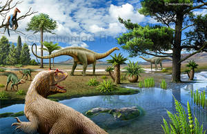 Some of the Jurassic period dinosaurs and plants by haghani
