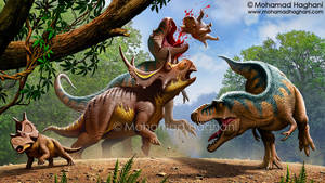 Lythronax Vs Diabloceratops by haghani