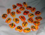 Embers: Elder Futhark Celtic Clay Rune Set