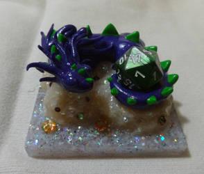 Slumbering Beast: The Purple D20 Dragon