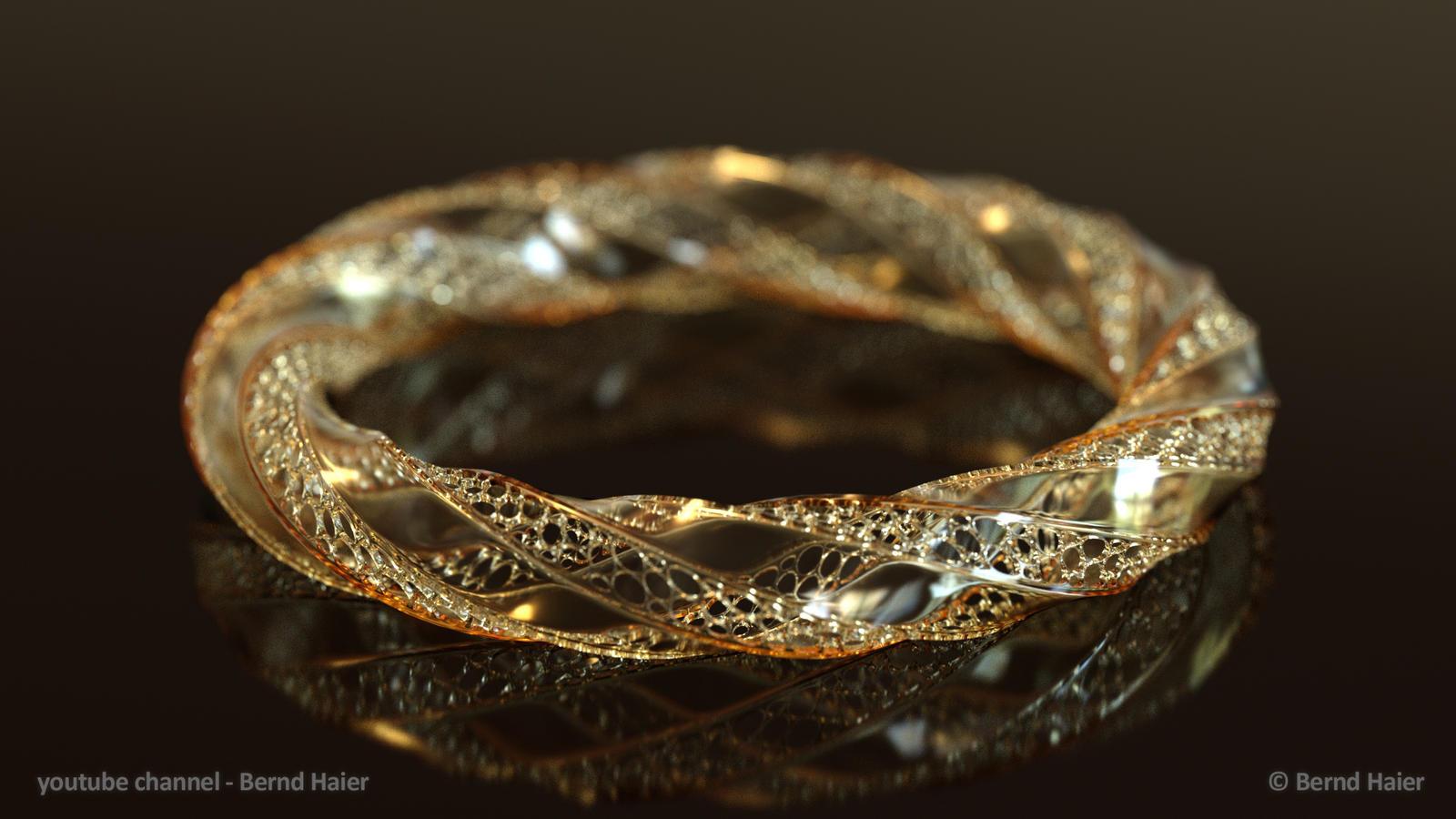 jewelry design part 11 bracelet part 4b Iray mat1 by Bernd ...