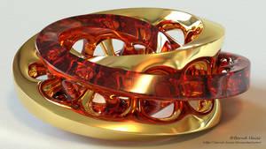 Moebius FX sculpture - metamorphosis of colors m1 by Bernd-Haier