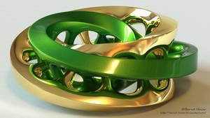 Moebius FX sculpture - metamorphosis of colors m3