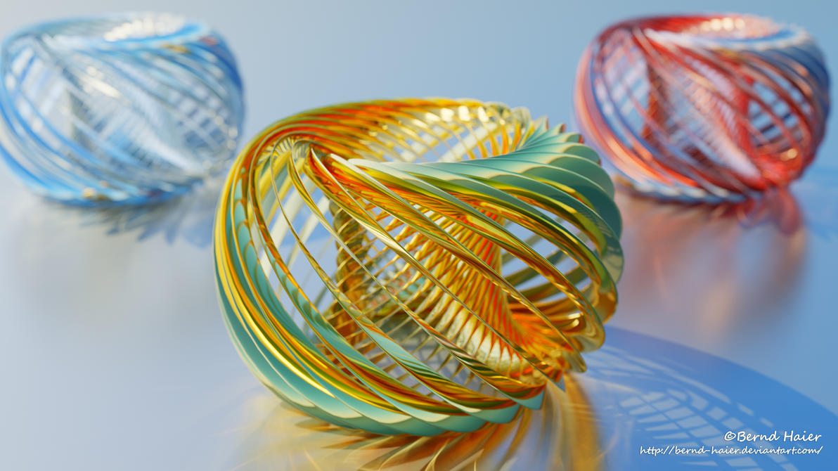 Animation ring twisted transform to sculpture V2 by Bernd-Haier