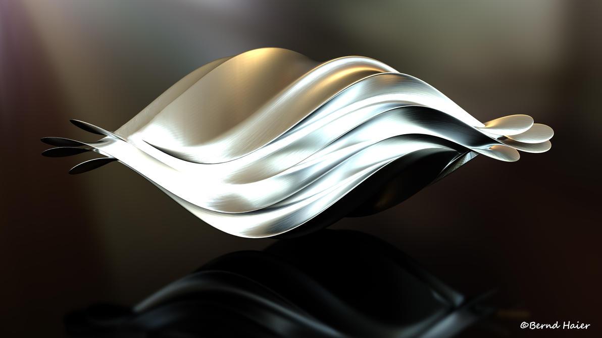 Box transformed into a sculpture - shape v3 mat 4 by Bernd-Haier