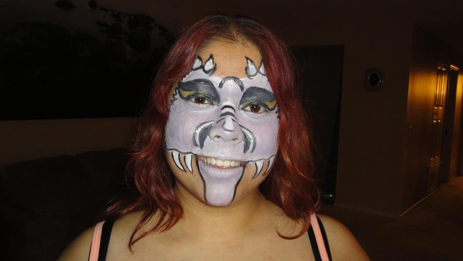 Purple Dragon Makeup 3 by pippierafrostlin