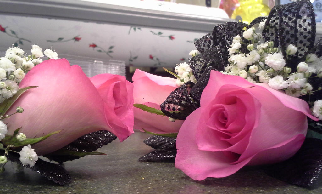 Black And Pink Rose Corsage N Bout By Pippierafrostlin On Deviantart