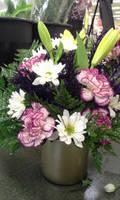 Lily Carnation Arrangement by pippierafrostlin
