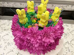 Peep Easter Cake Arrangement by pippierafrostlin