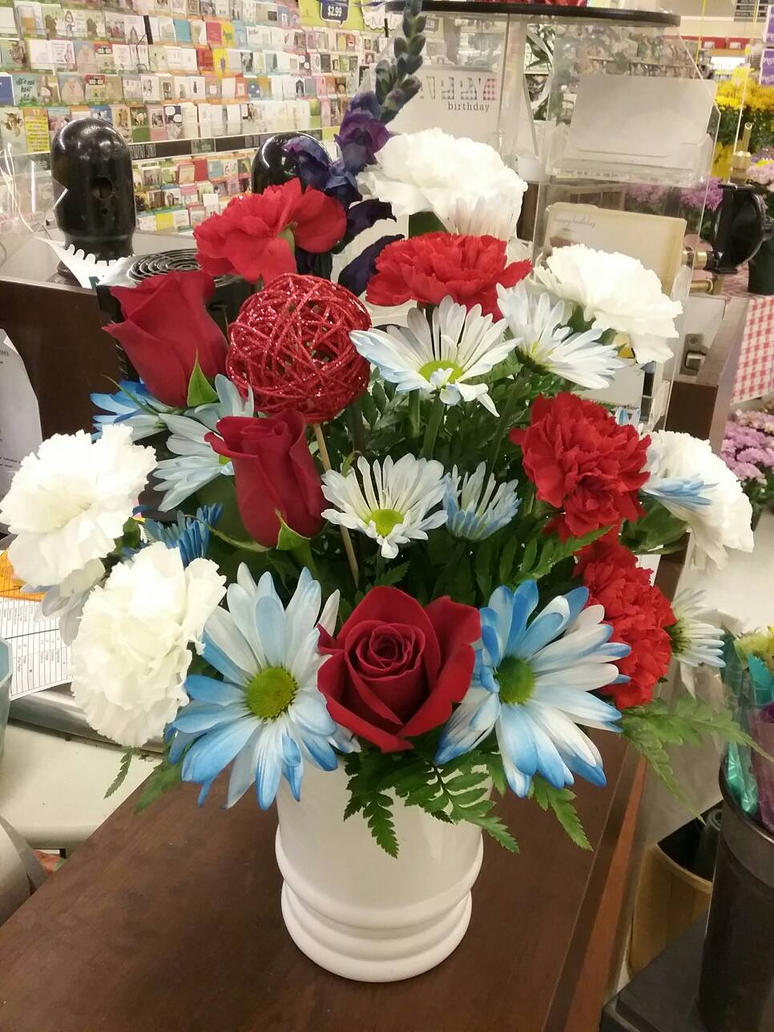 4th Of July Red White And Blue Arrangement 4 By Pippierafrostlin On