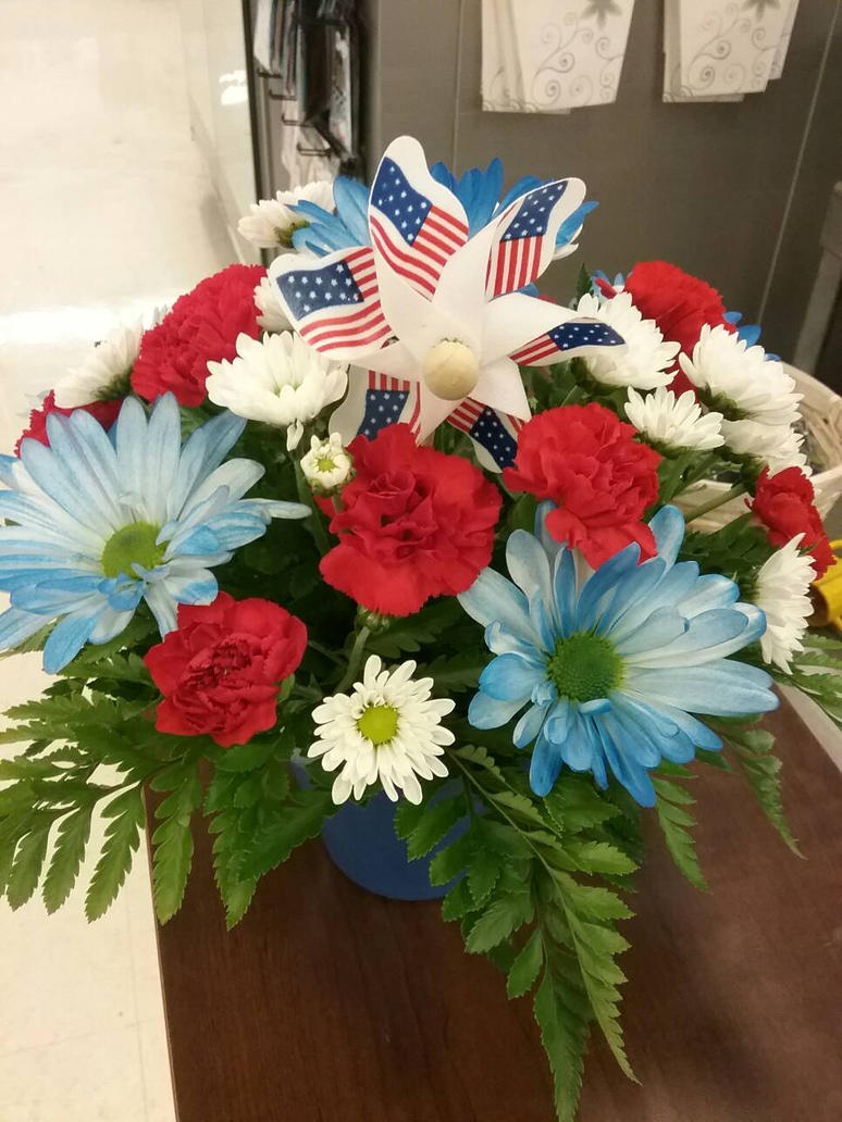 4th Of July Red White And Blue Arrangement 10 By Pippierafrostlin On