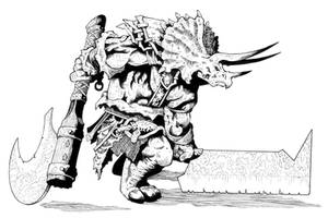 Triceratops Warrior by Blade1158