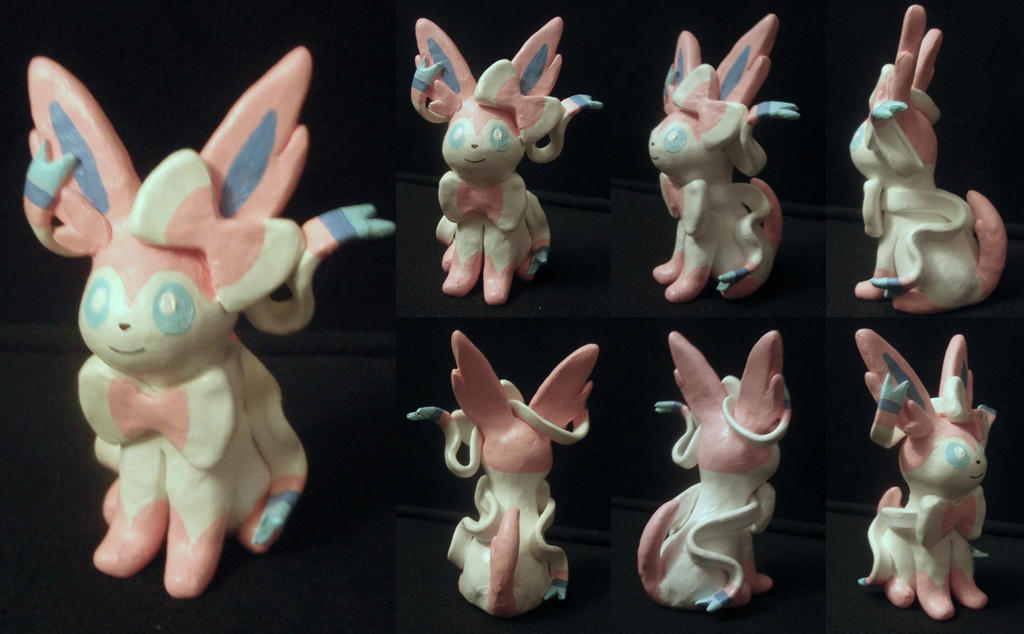 Sylveon Sculpture by BrittanyLischka