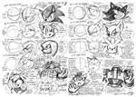 Sonic Character Face Reference