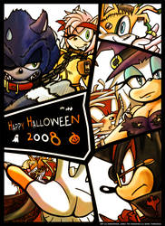 Sonic Halloween 2008 by darkspeeds