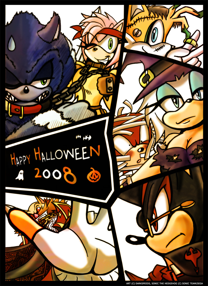 Sonic Halloween 2008 by darkspeeds