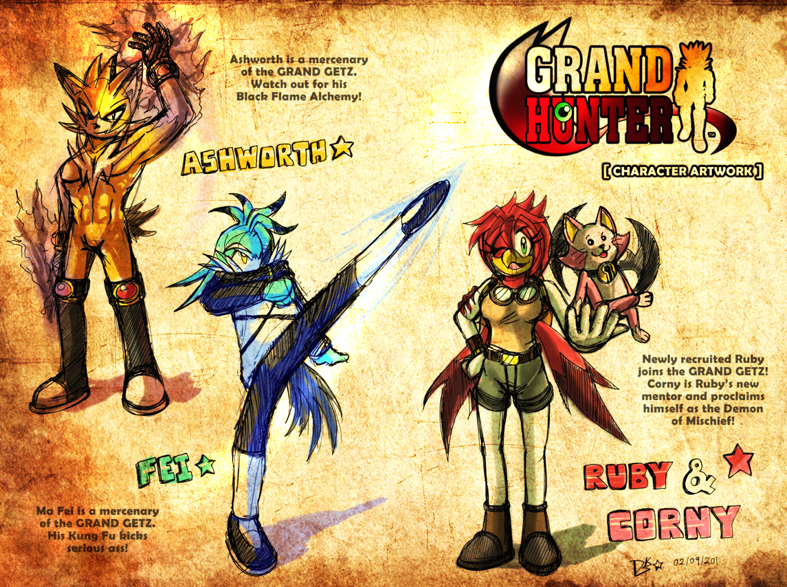 GRAND HUNTER Protagonist List by darkspeeds