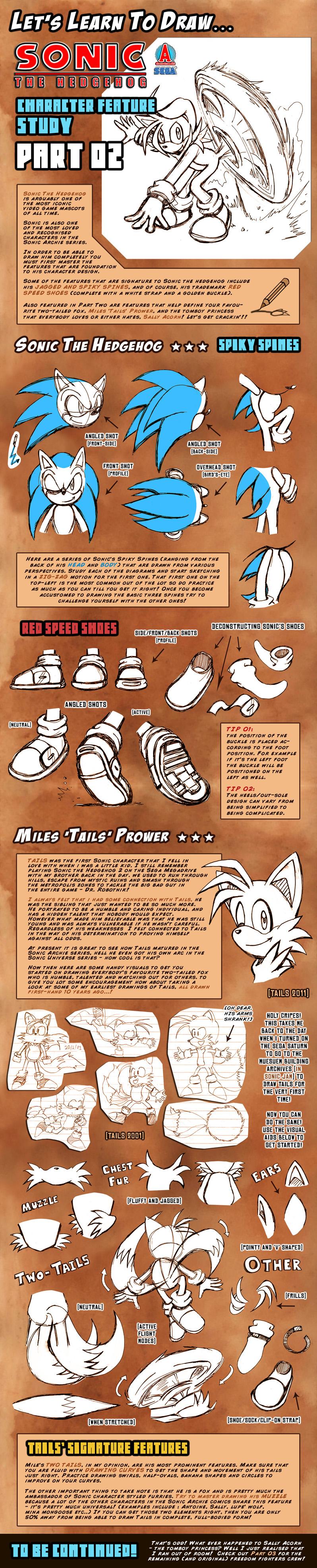 Let's Draw Sonic Archie .:02:. by darkspeeds