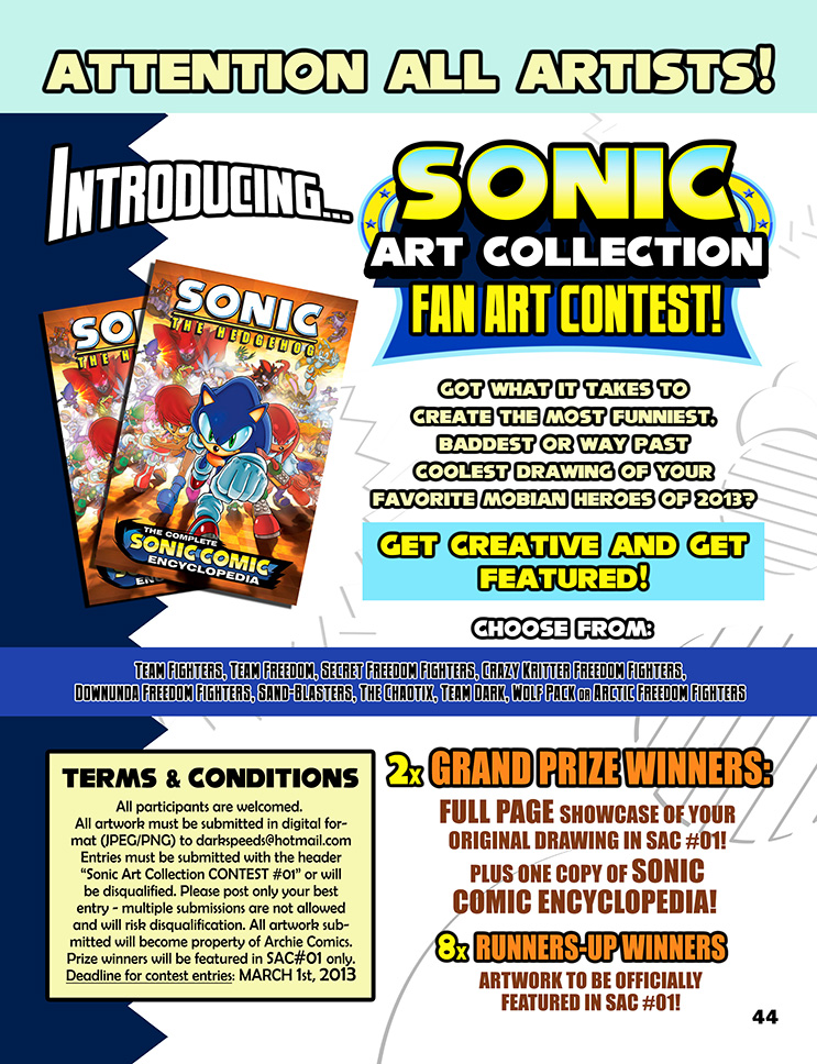 Sonic Art Collection (Fan Art Contest Advert) by darkspeeds