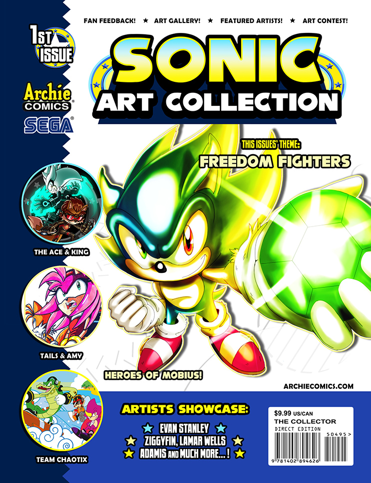 Sonic Art Collection (COVER ART - 1st Issue) by darkspeeds