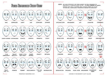 Facial Expressions Buddy Sheet for comics/cartoons by darkspeeds