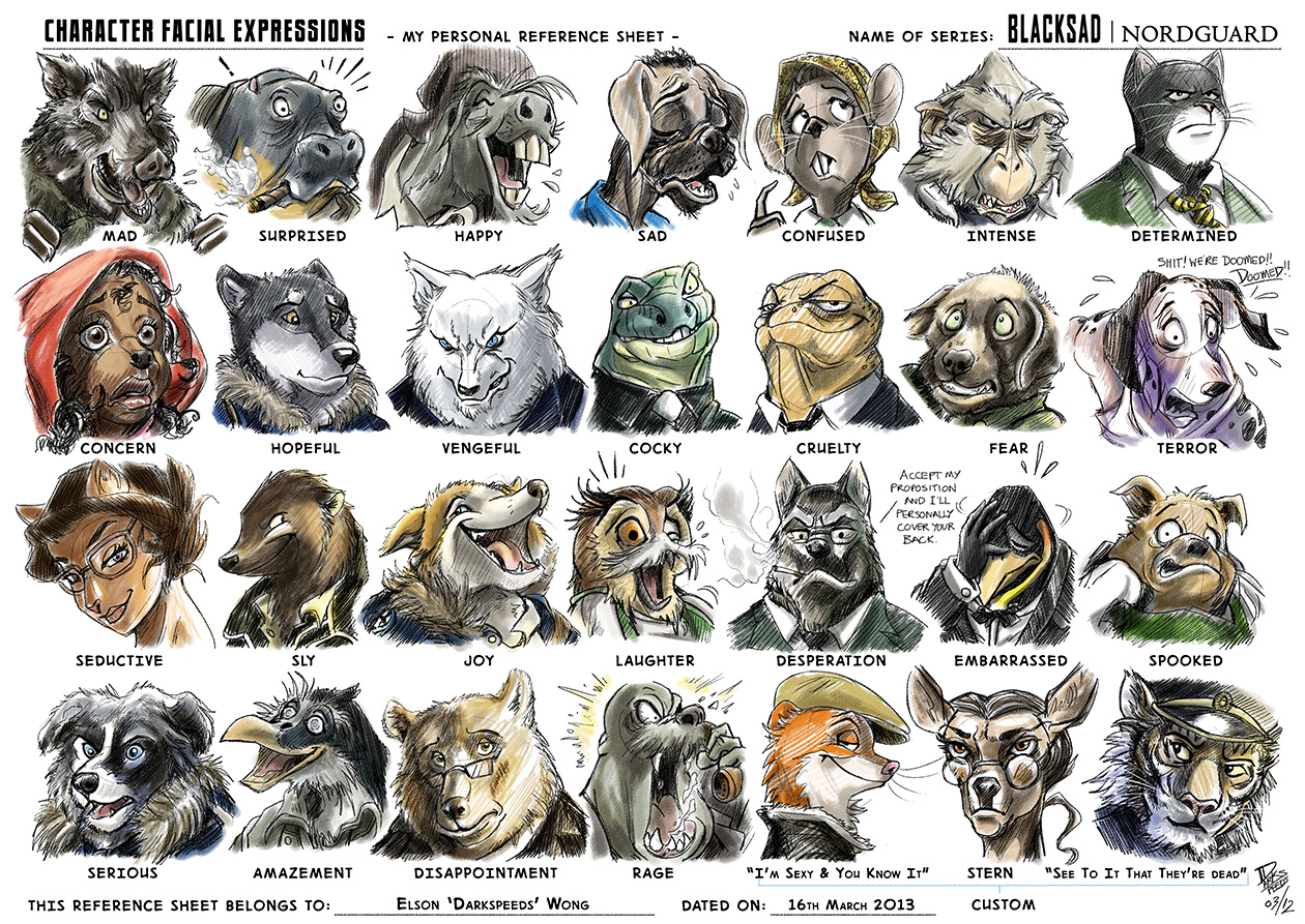 The Art Of Animal Character Design Pdf Free Download : Facial expressions buddy sheet application by