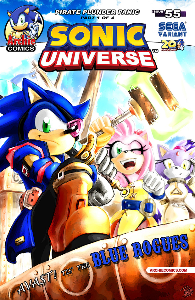 Sonic Universe #55 Cover - SEGA Variant by darkspeeds
