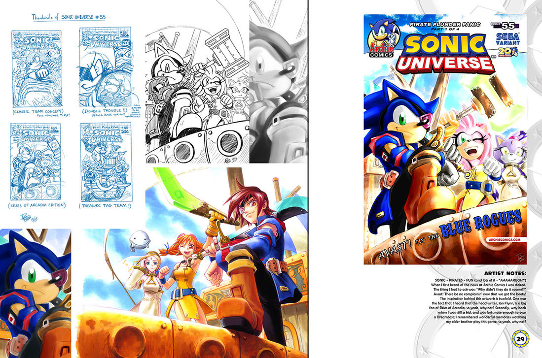 Sonic Art Collection (Pages 28-29) by darkspeeds