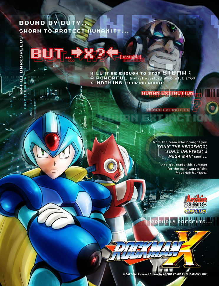 Sonic Art Collection (BACK COVER - MegamanX promo) by darkspeeds